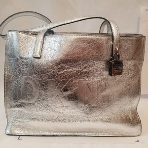 Dkny Bags - Metallic DKNY monogram tote